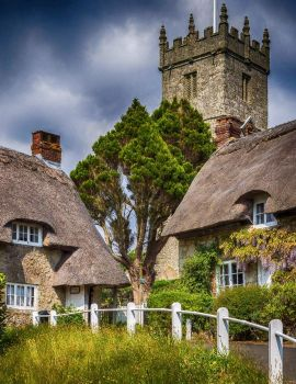 The village of Godshill, Isle of Wight