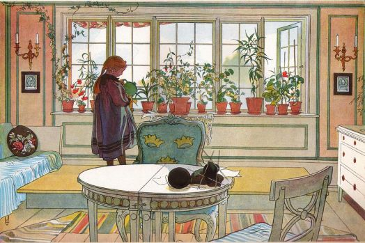 Carl Larsson--Flowers OnThe Windowsill