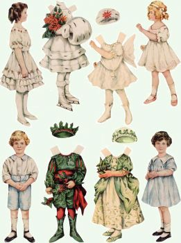 Paper Dolls ~ Christmas (4)