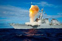 USS Hooper firing missile