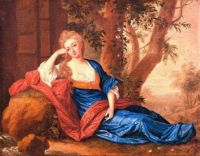 Portrait of a noble lady under a tree