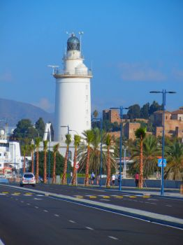 Lighthouse at Port of Malaga, Spain