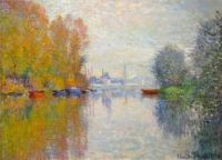 Claude Monet - Autumn on the Seine at Argenteuil, 1873 - especially for Inoleukothea (Mar17P53)