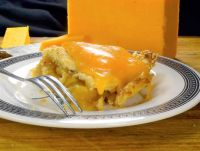 Dutch apple pie with melted cheddar cheese