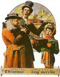 Christmas Carols by Norman Rockwell